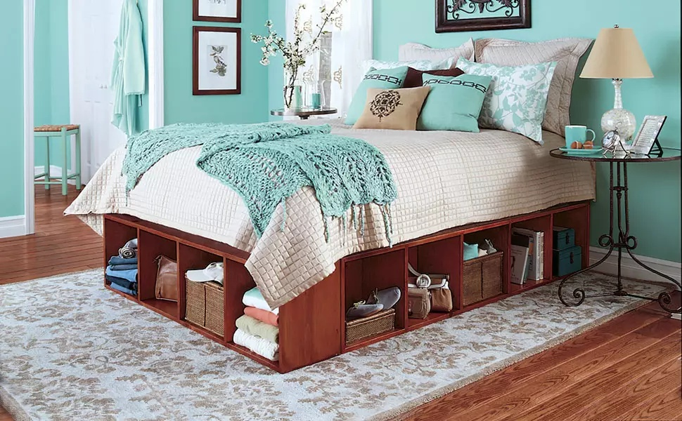 side view of a bed
