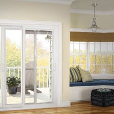 patio doors and windows in a house