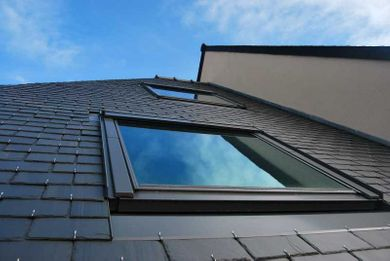 exterior view of a skylight