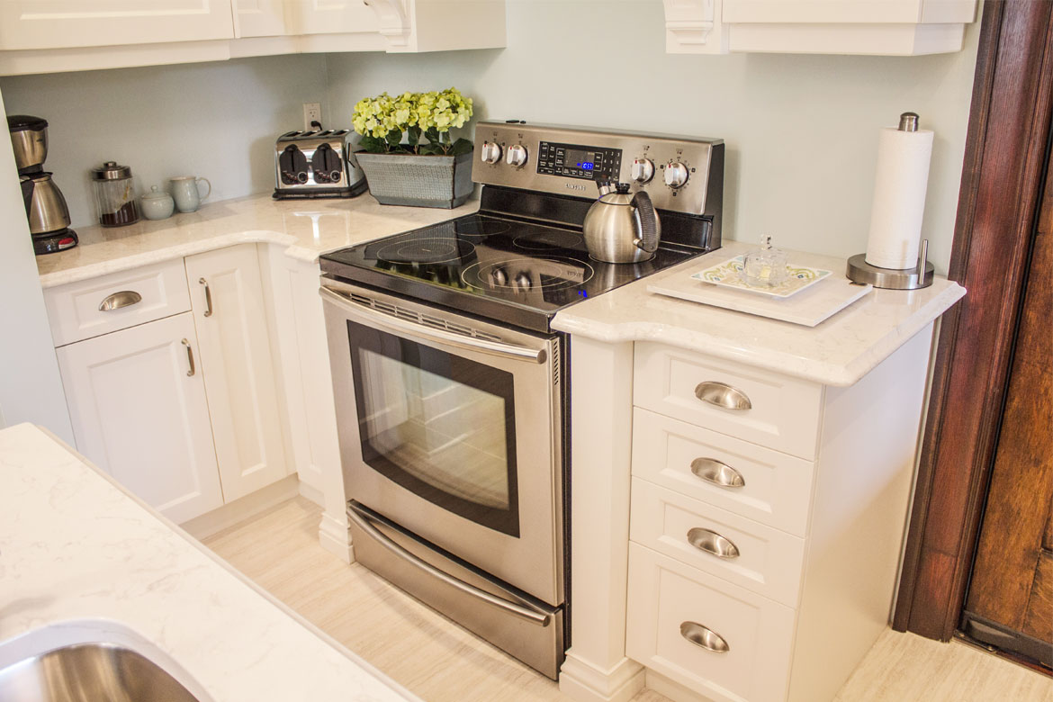 view of a kitchen stove