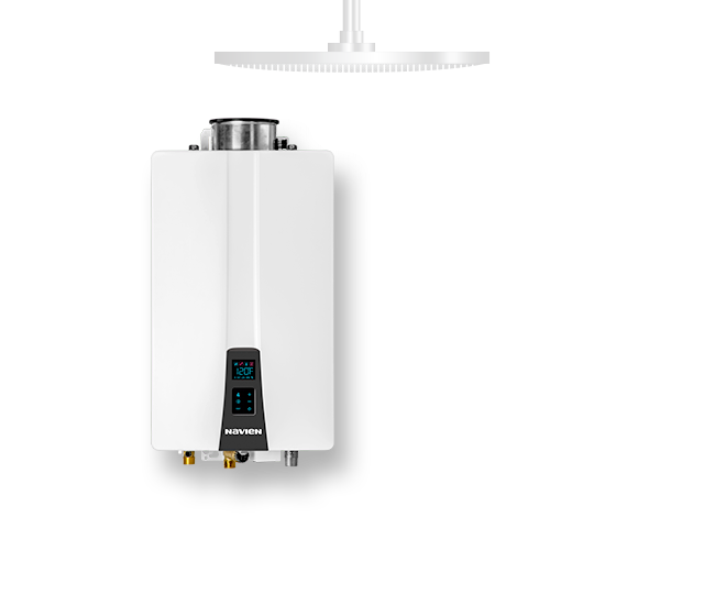 view of a white water heater