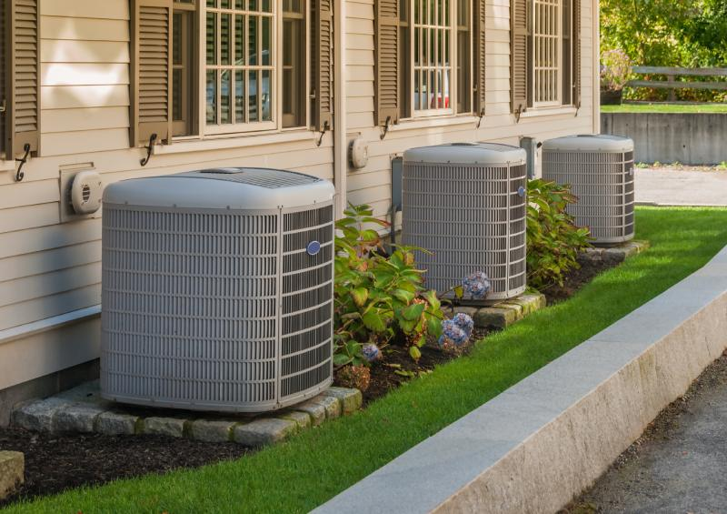 view of outdoor HVAC units