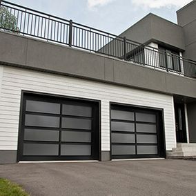 house with 2 garage doors