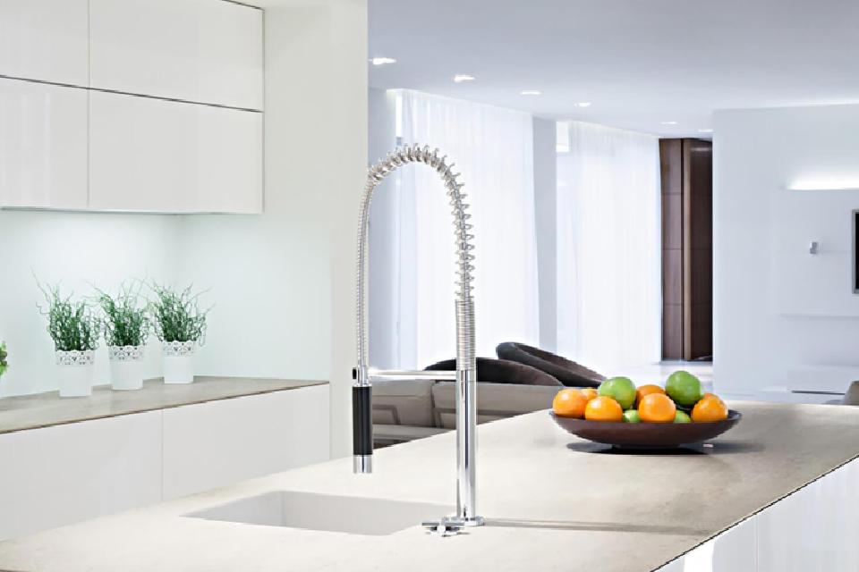 view of a kitchen faucet