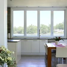 view of windows in kitchen
